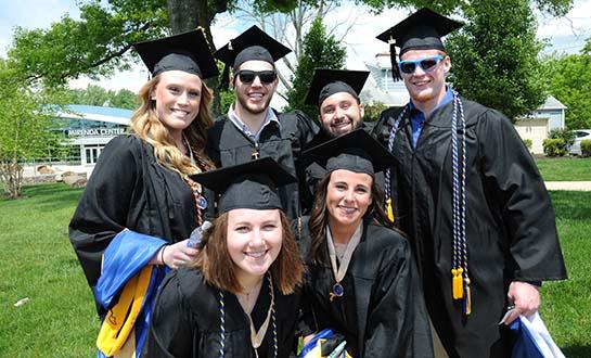A few Neumann University graduates