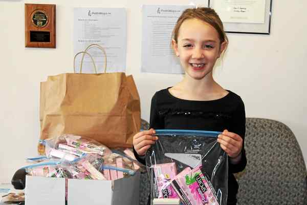 Six-Year-Old from Media Collects Care Packages for Pathways