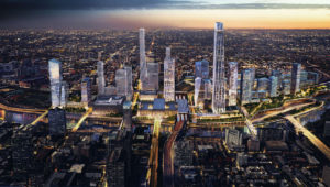 A conceptional rendering of the University City skyline.