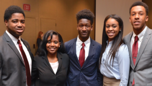 Calen Robinson with other UNCF scholarship winners.