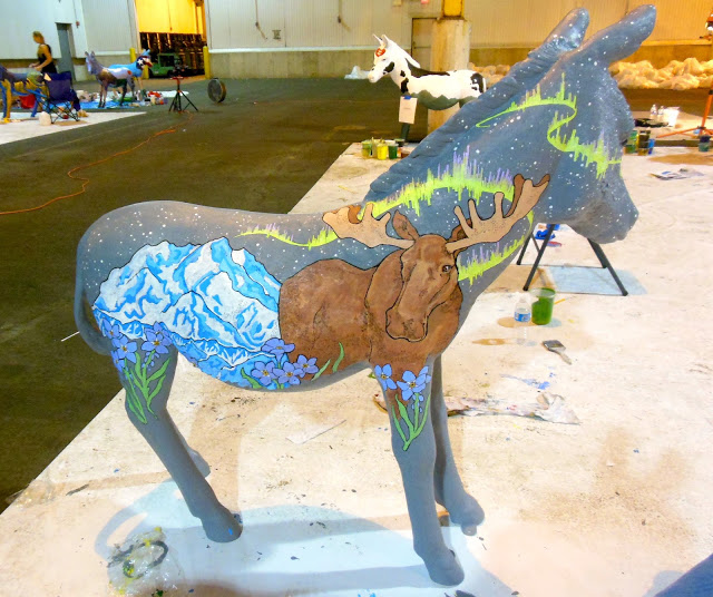Upper Darby Artist Paints Alaska, North Carolina Donkeys for Democratic National Convention