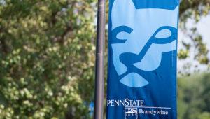 A bannar for Penn State University