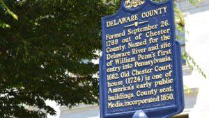 Delaware County Historical Marker