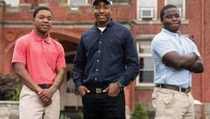 Glen Mills Schools students (from left) D'Angelo Reed, Xavius Howell, and Jeremiah Jefferson