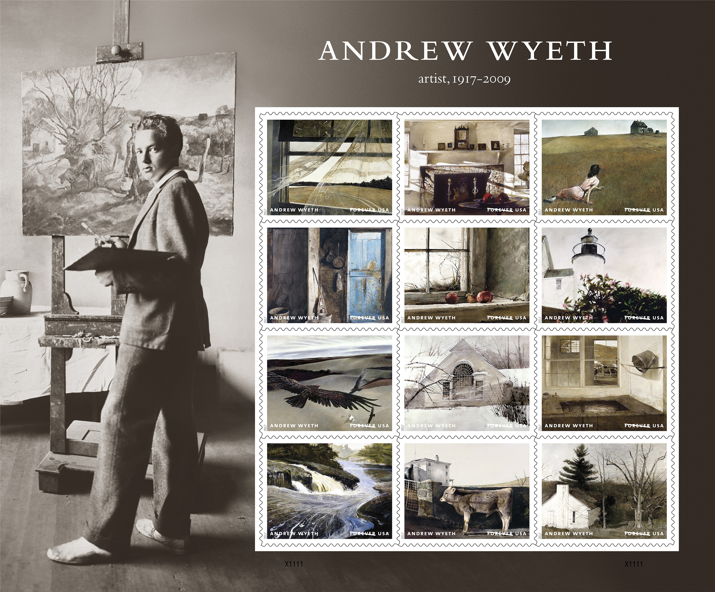 U.S. Postal Service Stamps Andrew Wyeth's Legacy as an American Icon
