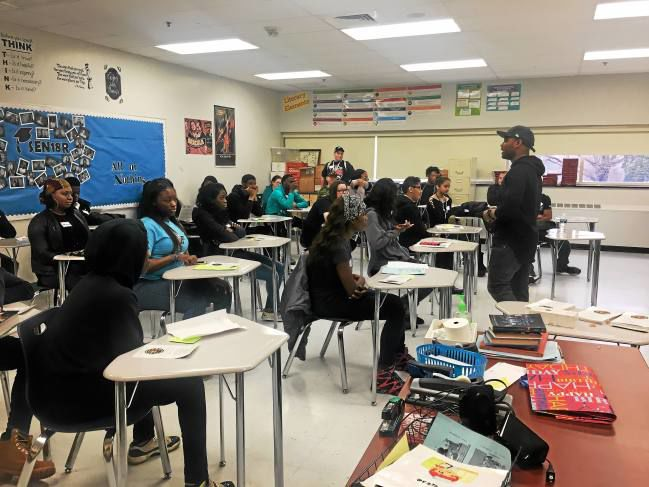 Academy Park Alumni Return to School to Help Students 'See Past High School'
