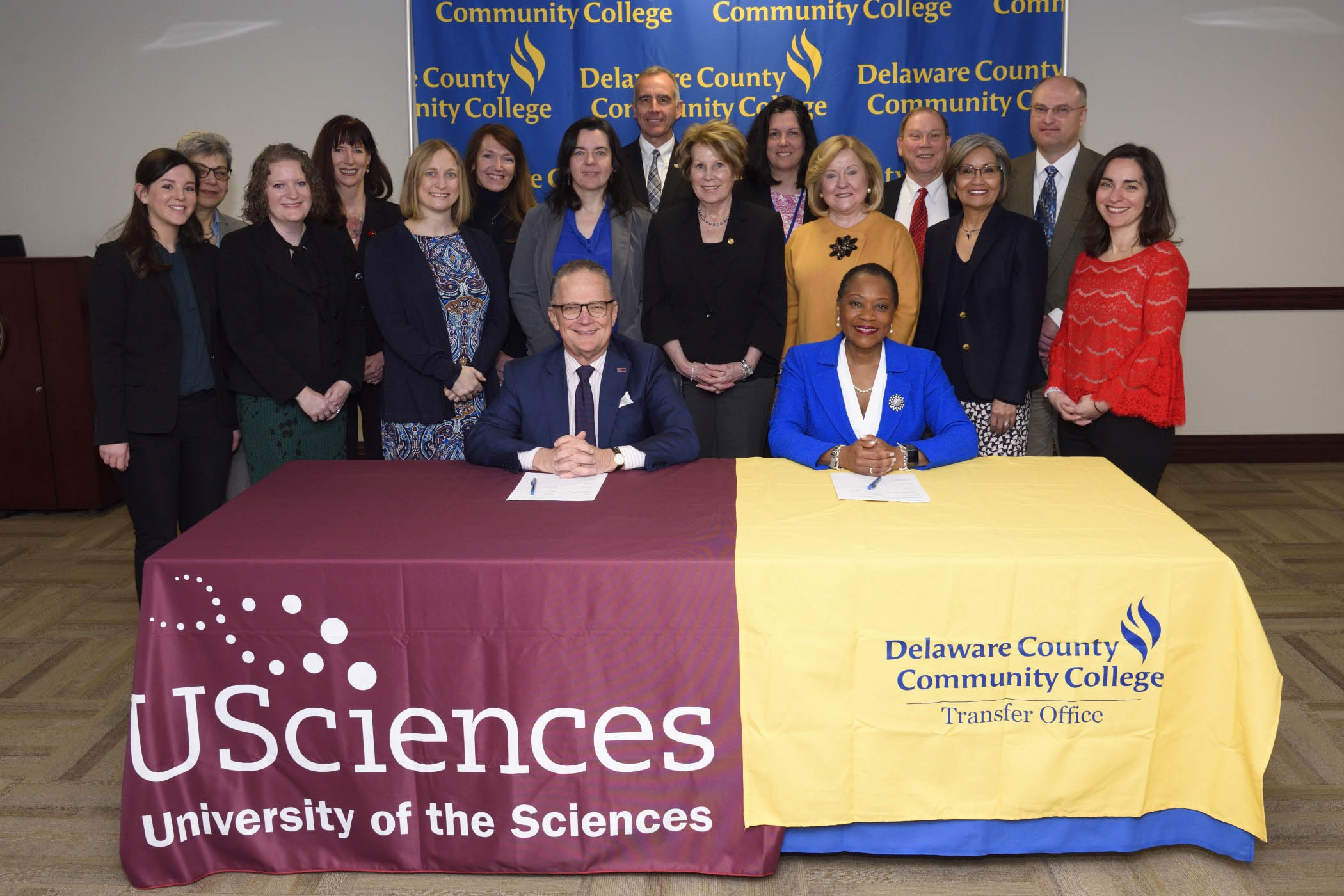 University of the Sciences, Delaware County Community College Sign Admission Agreement