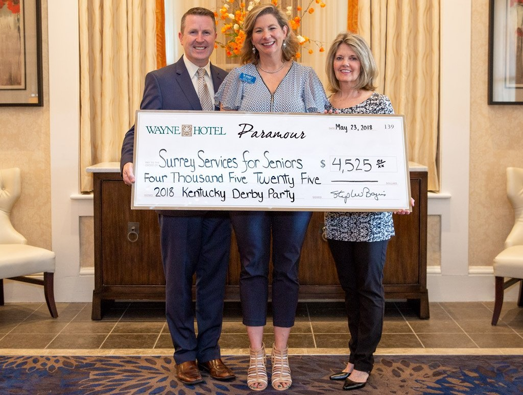 Paramour, Wayne Hotel Donate Proceeds of Kentucky Derby Party to Surrey Services