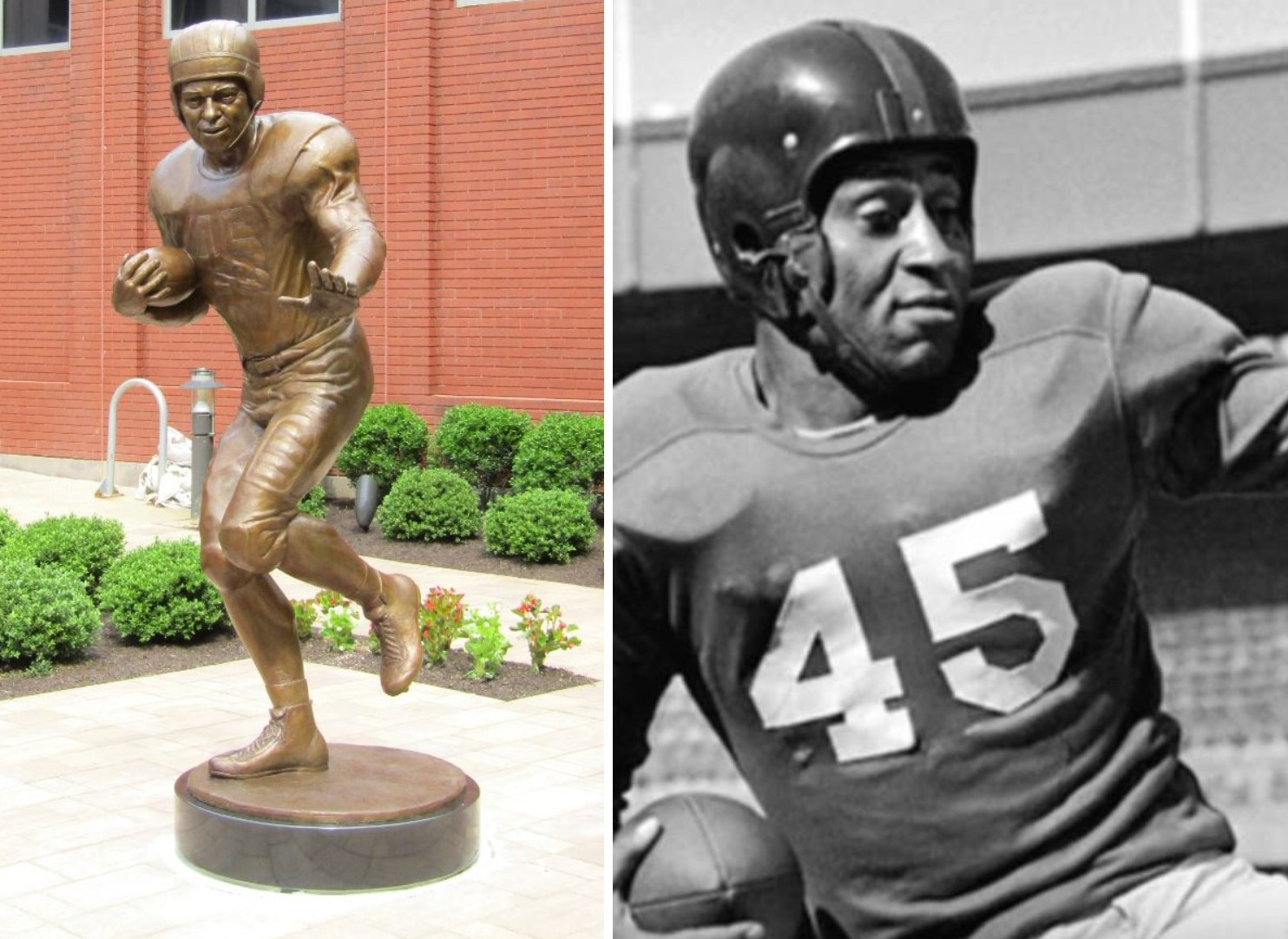 WWII Hero, Unsung Football Great Memorialized with Statue in Radnor