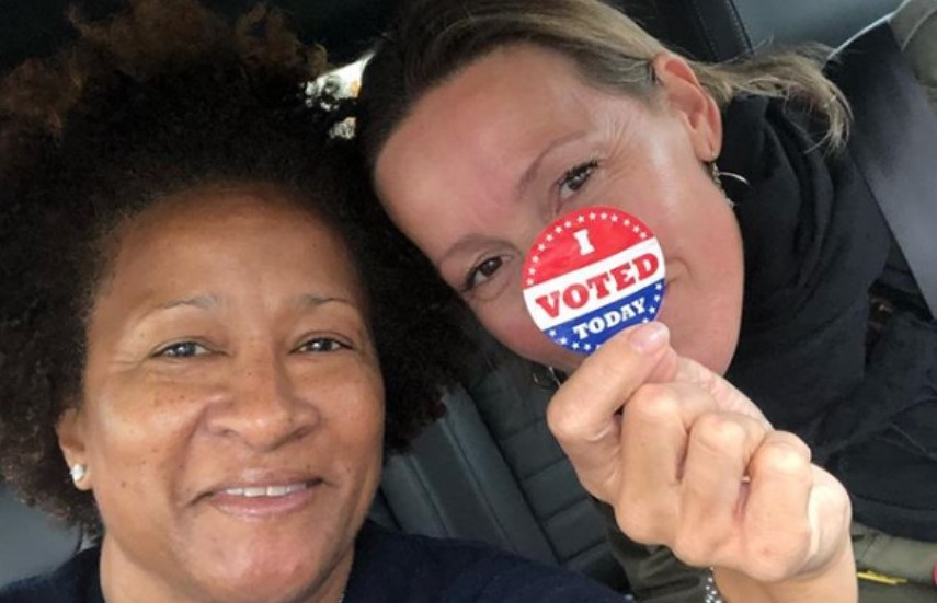 Comedienne Wanda Sykes Spotted at the Polls in Media