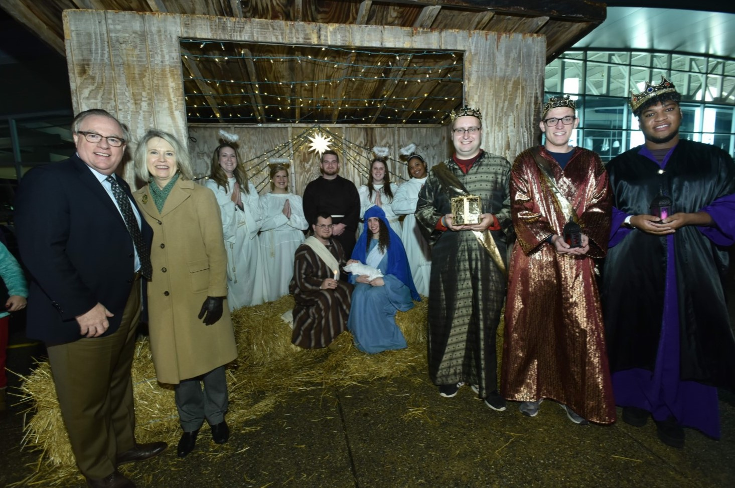 Student from Norwood Stars in Live Nativity at Neumann University