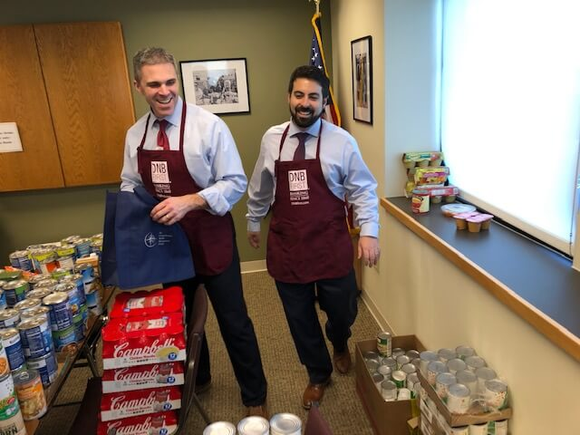 DNB First Participates in 'Weather the Weather' Food Drive for Benefit of Local Seniors, Students