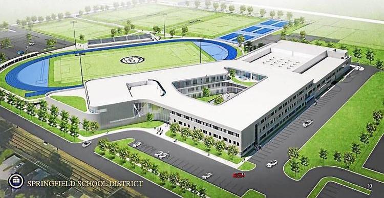 Work Progresses at Site of New Springfield High School