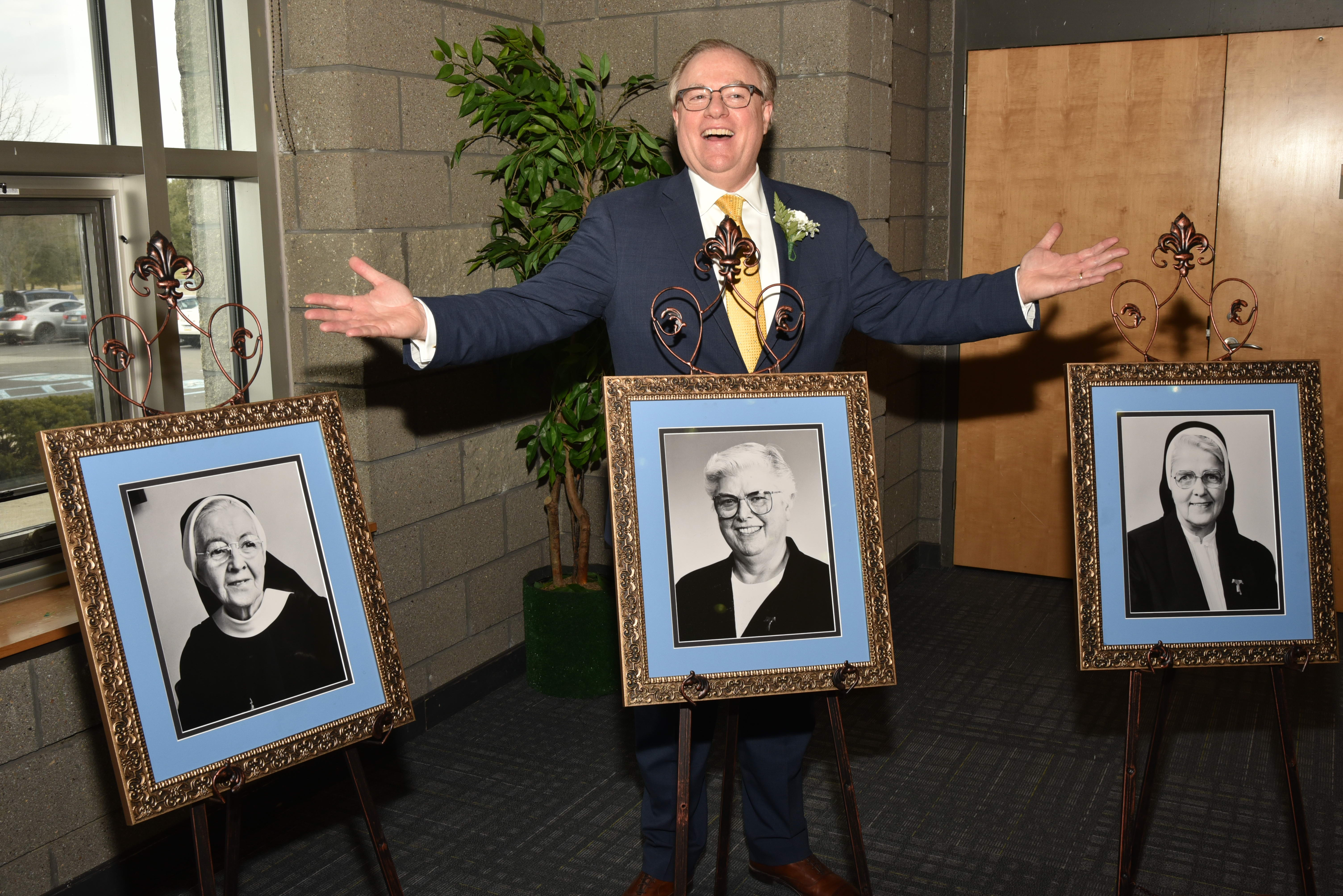 On University's 54th Charter Day, Neumann Names Dorms in Honor of First Three Presidents