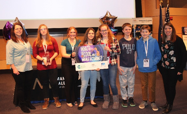 Award-Winning Teams from Local Middle Schools Learn What's So Cool About Manufacturing