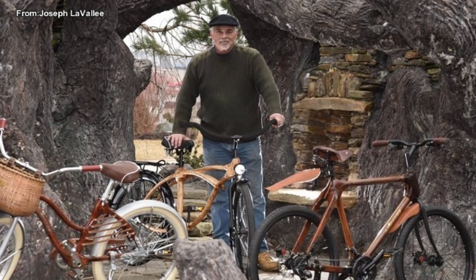 Essington Man Creates Art by Hand-Crafting Unique Wooden Bicycles