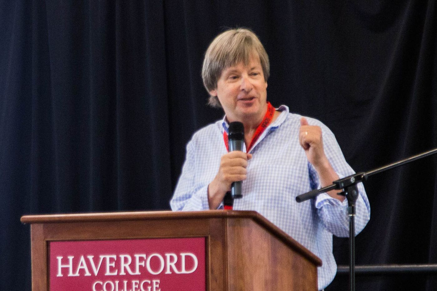 Dave Barry Stops By to Chat at Haverford College 50th Reunion