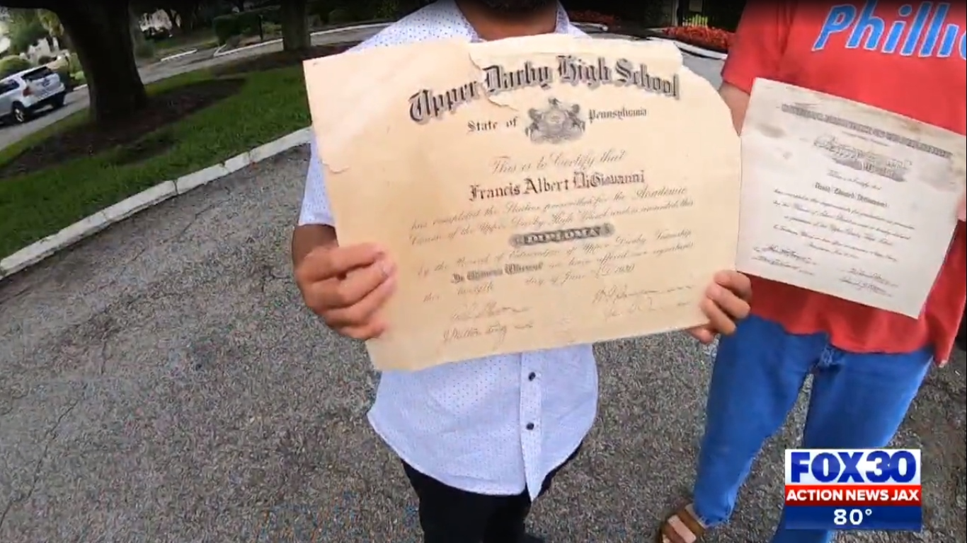 WWII Vet's Upper Darby High Diploma Finds Its Way Back to His Family