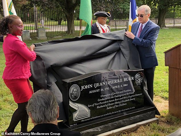 Aaron Burr's Son, John, Finally Gets a Headstone for His Burial Plot at Eden Cemetery in Collingdale