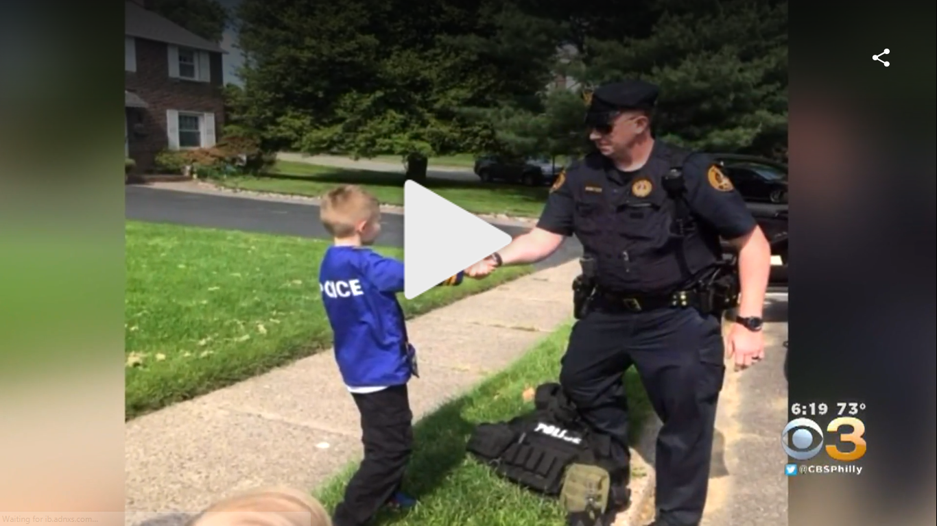 Haverford Police Officer Helps Along a 7-Year-Olds Dream of Being a Cop