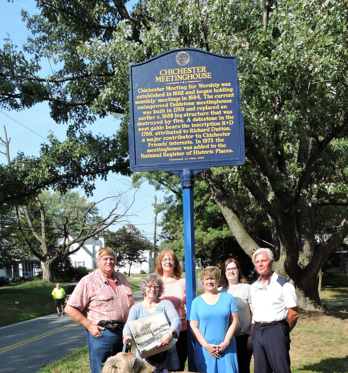 Chichester Meetinghouse Building Celebrates 250 Years With New Roadside Marker