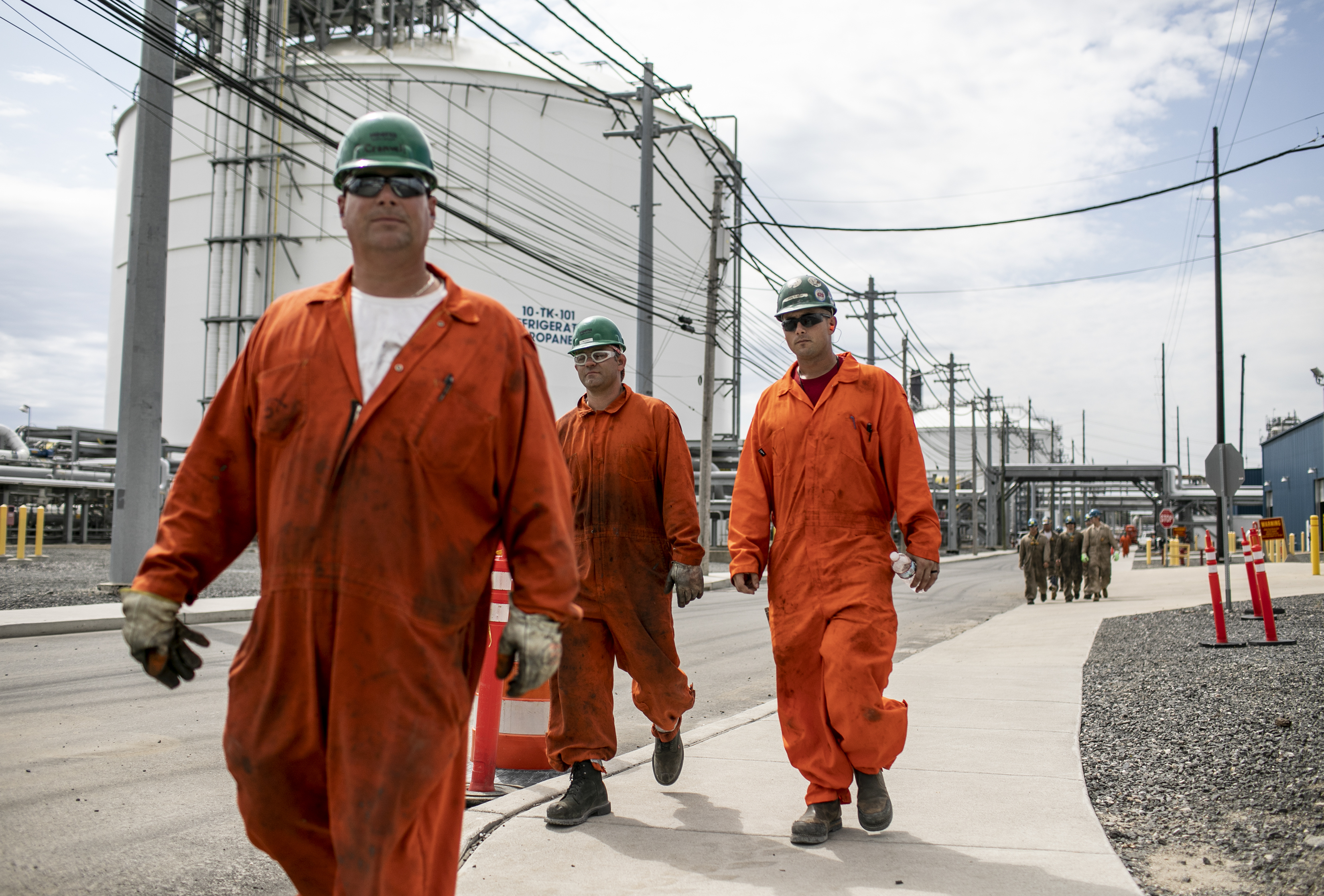 Hundreds of Laborers Continue Modification Work at Marcus Hook Industrial Complex