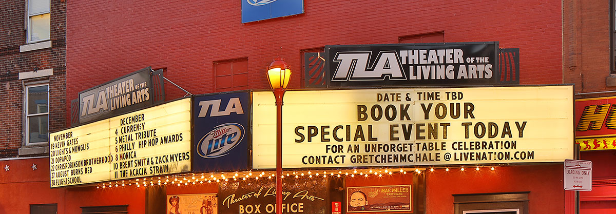 Musician Finds Perfect Outlet to Propose Marriage: the TLA Concert Marquee