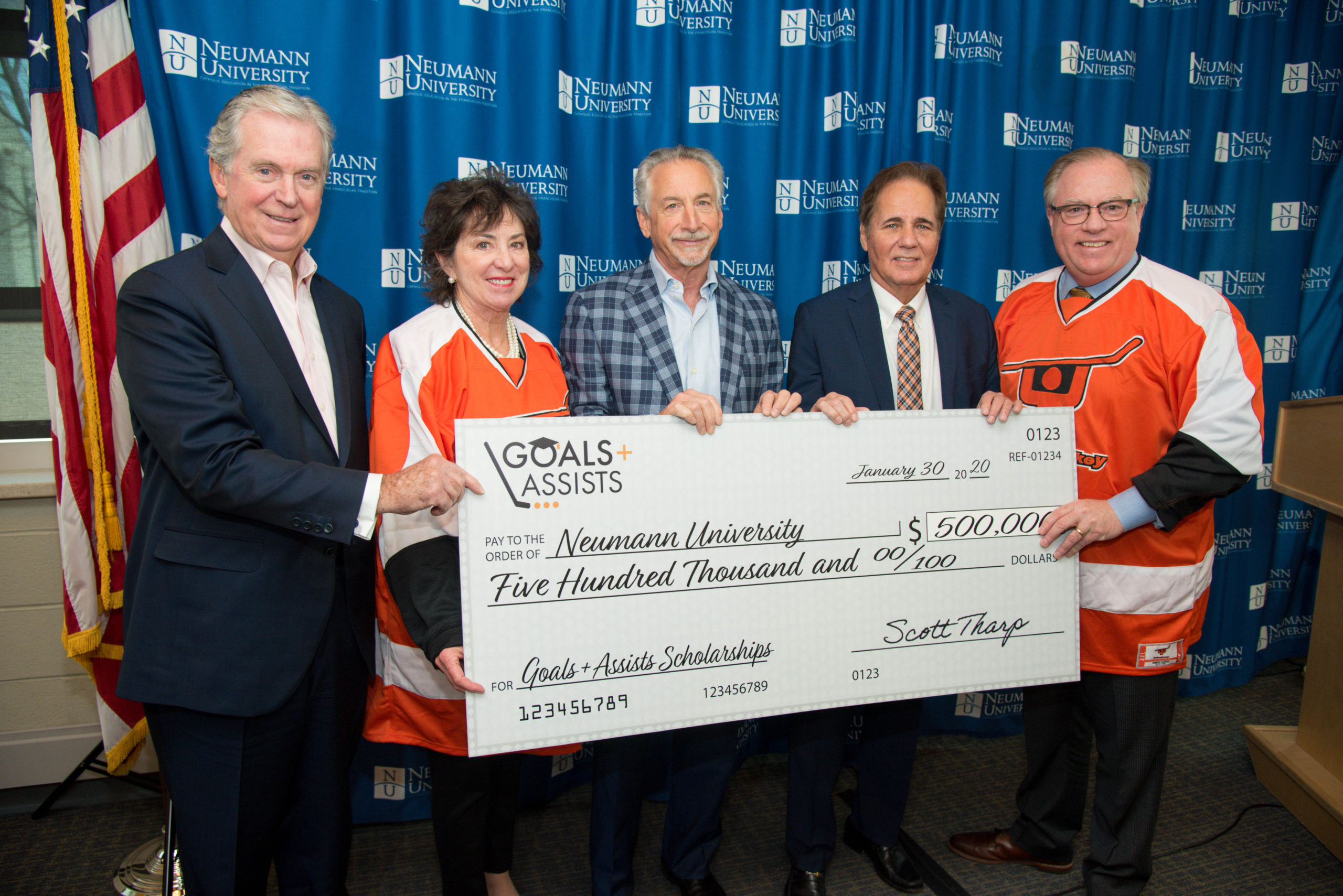 Ed Snider Youth Hockey Foundation Gives $500,000 for Scholarships to Neumann University