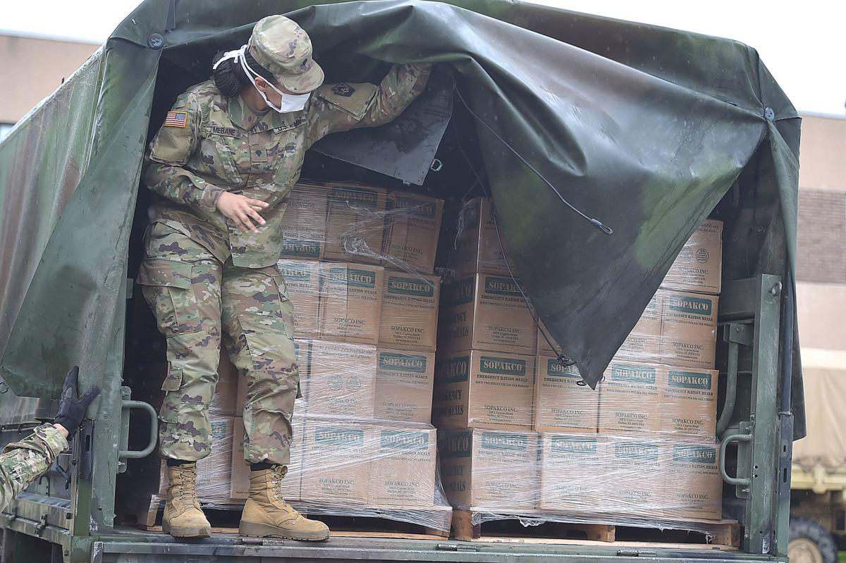 National Guard Helps Deliver Meals to Those in Need in Delaware County