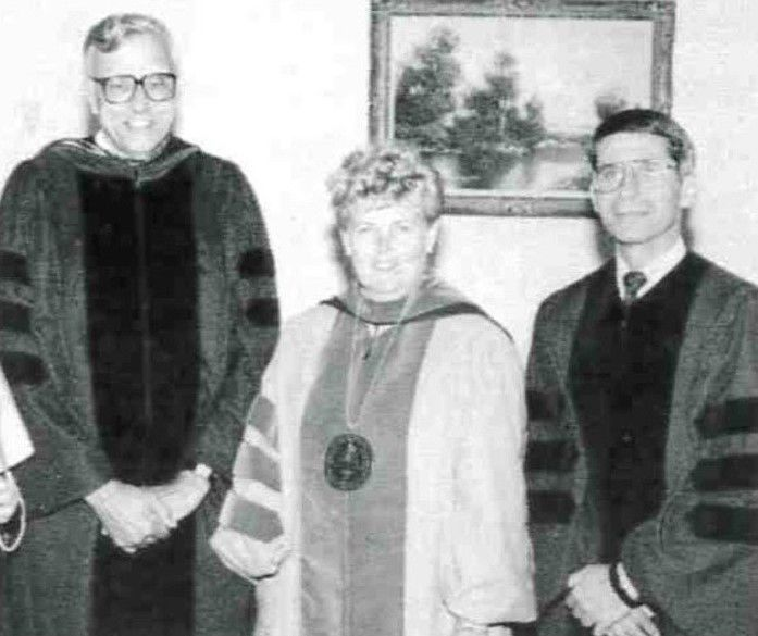 Neumann University in Aston Presented Dr. Anthony Fauci With an Honorary Degree in 1990