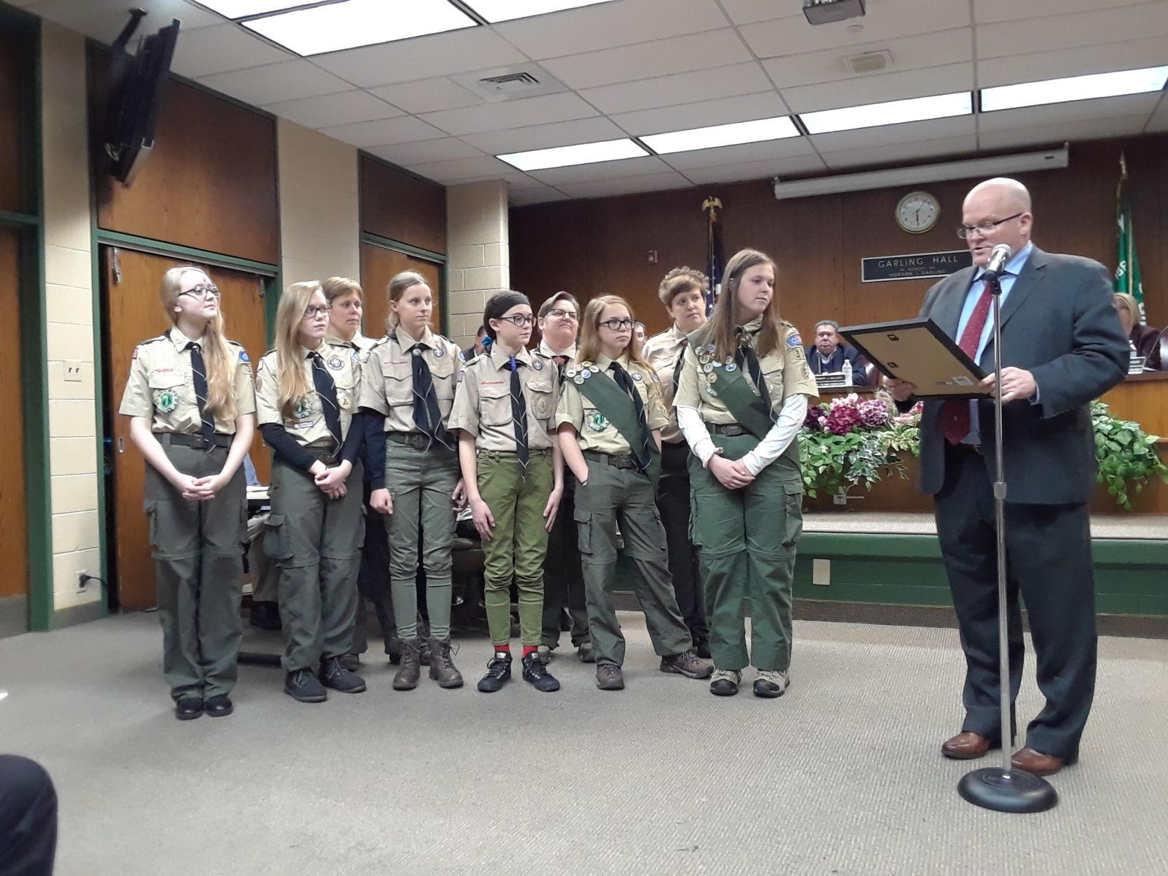 Ridley Honors First BSA Girl Troop in Delaware County