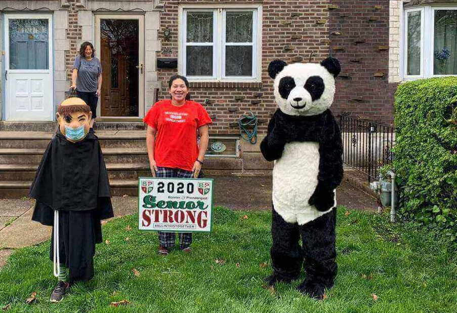 Bonner/Prendie Class of 2020 Remembered Fondly in This Pandemic Year With Lawn Sign Delivery