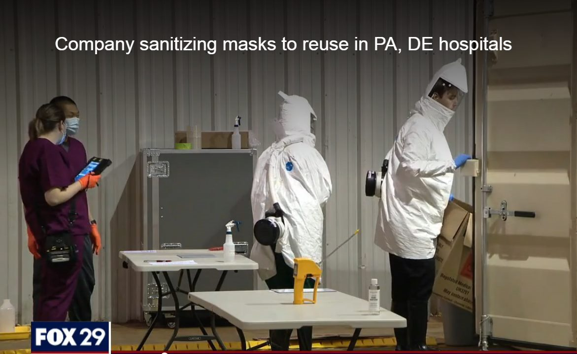Science and Technology Group Uses Glen Mills Food Warehouse to Clean Masks for Reuse