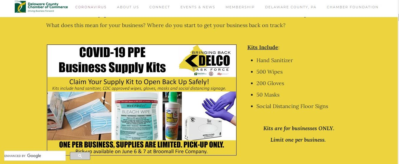 Kits, Signs and More to Help Delaware County Businesses Reopen Under Health Guidelines