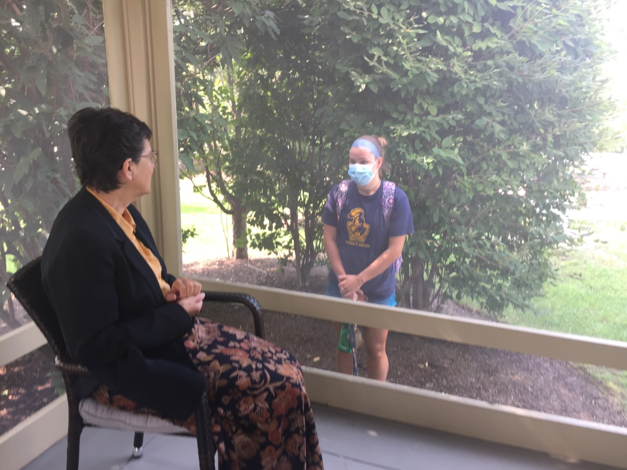 Neumann University Sisters Offer Prayers From the Porch