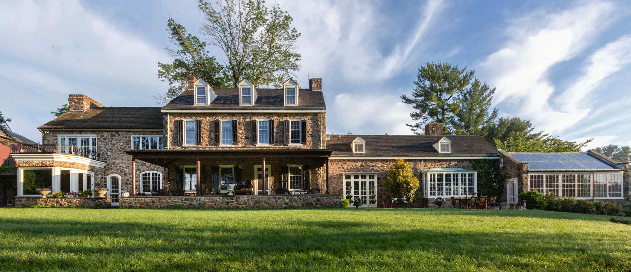 This 18th Century Manor House Would Fit Right In on the Main Line, but It's in Newtown Square