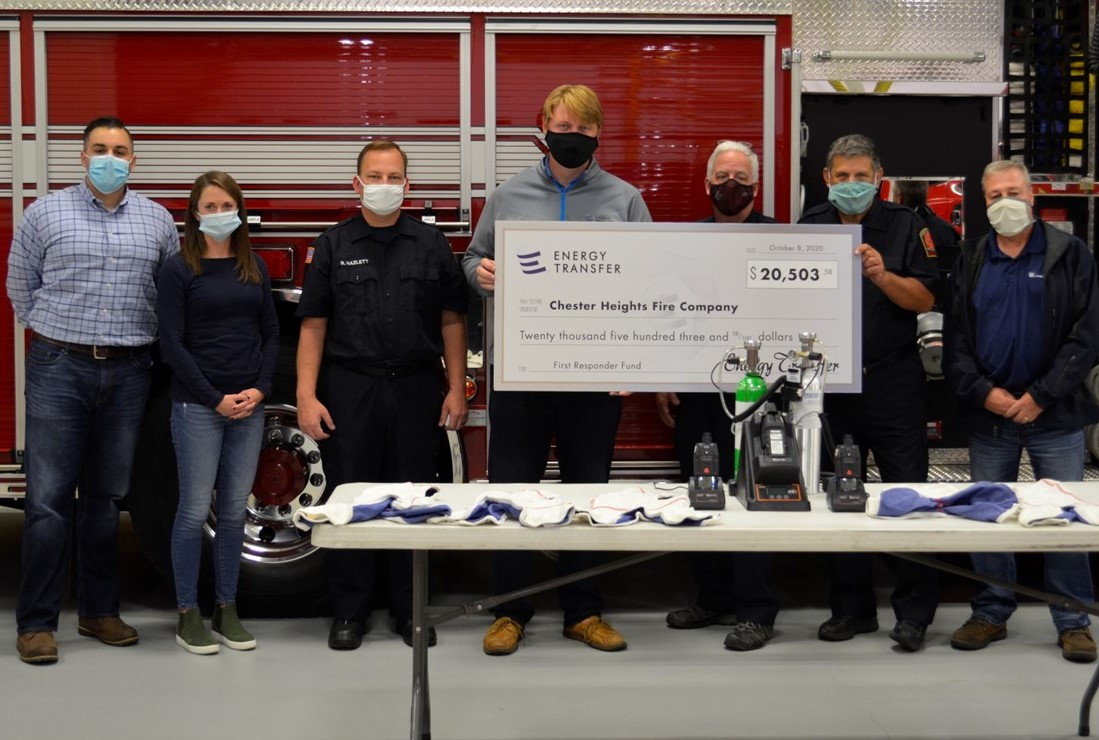 Energy Transfer Grants $20,503.58 to Chester Heights Fire Company for Emergency Equipment