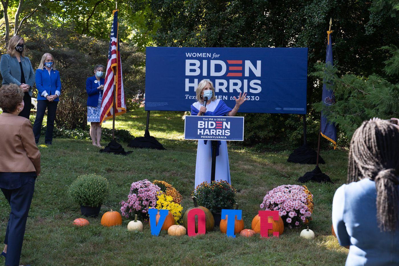 Jill Biden Talks About Importance of Women in Campaign Swing through Swarthmore