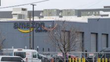 Amazon warehouse in South Philadelphia