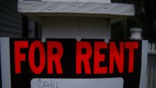 Delaware County rents, a for rent sign