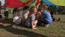 kids play outside at Ridley Park fitness class