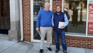 David Mackey, owner of The Philadelphia Print Shop at his new location in Wayne.