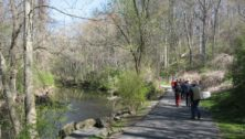 Hikers along the Haverford Township trails
