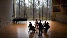 Lang Concert Hall, part of capital project building renovations at Swarthmore College