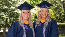 Jillian and Halle Crane, twin sisters and Neumann University Class of 2021 graduates
