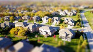 Looking Down on A suburban Neighborhood