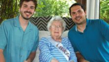 Dolores Reigle with grandsons Nicholas DiMariano (left) and Thom Martinicchio.