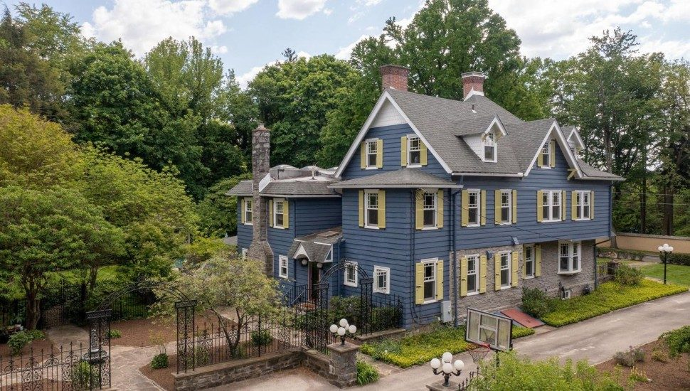The Victorian Blakely cottage at 401 Blakely Road in Haverford.
