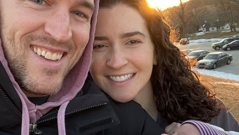 Ryan and Bridget, holding Maeve Bolton