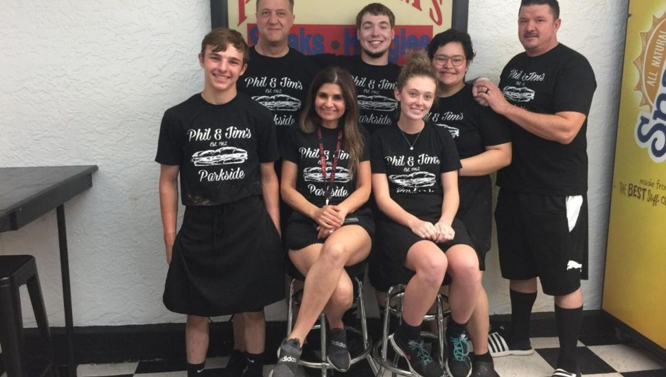 """The dedicated staff and owners of Phil & Jim's Steaks and HOagies in Parkside, winner of the """"Best Cheesesteak"""" title."""
